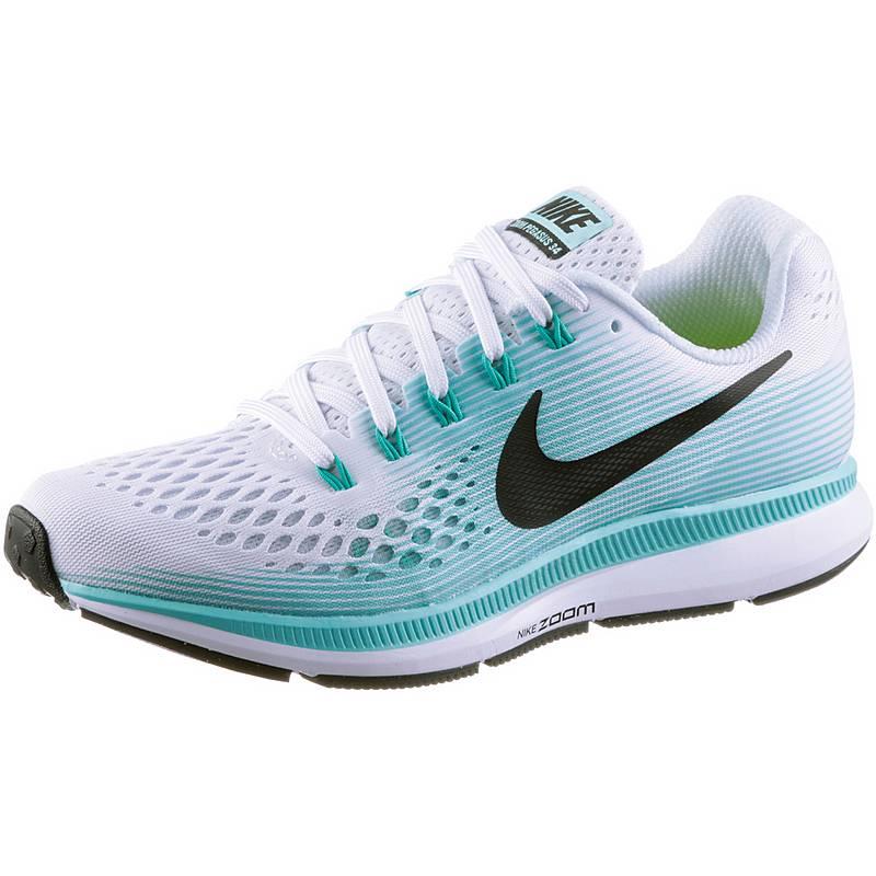 Nike AIR ZOOM PEGASUS 34 Laufschuhe Damen white black-aurora green ... bcf421fcd8