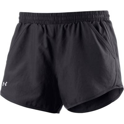 Under Armour Fly By Laufshorts Damen BLACK/BLACK/REFLECTIVE