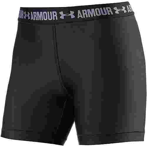 Under Armour Heatgear Armour Tights Damen BLACK/BLACK/METALLIC SILVER