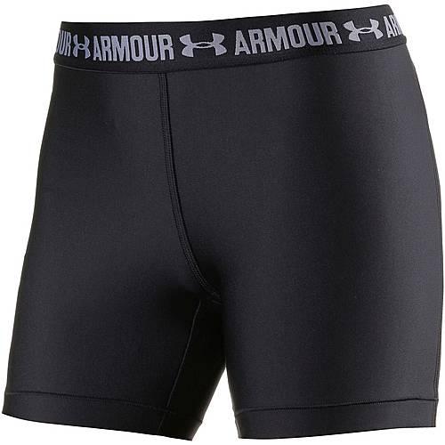 Under Armour Heatgear Armour Tights Damen BLACK/BLACK/METALLIC SILVER