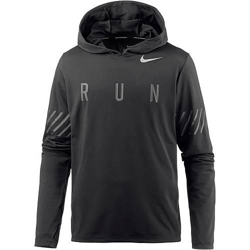 Nike DRY MILER Laufhoodie Herren black/black/(reflective silv)