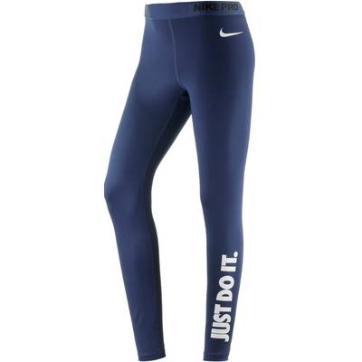 Nike Pro Dry Fit Tights Damen BINARY BLUE/WHITE