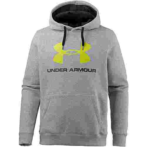 Under Armour ColdGear Rival Funktionssweatshirt Herren TRUE GRAY HEATHER / BLACK / SMASH YELLOW
