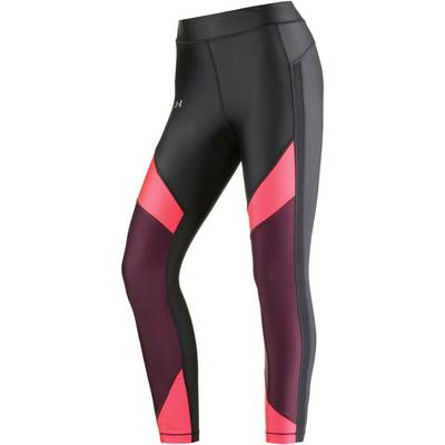 Under Armour Heatgear Ankle Crop Tights Damen BLACK/MARATHON RED/METALLIC SILVER