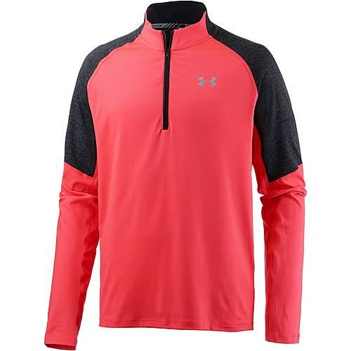 Under Armour ColdGear Threadborne Run Laufshirt Herren MARATHON RED / BLACK / REFLECTIVE