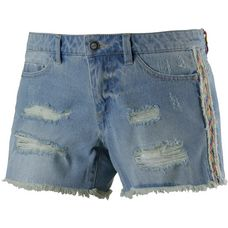 Only Carrie Jeansshorts Damen destroyed denim