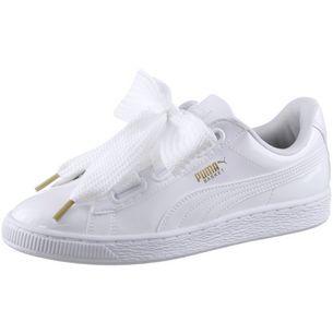 Puma Damen Basket Heart Patent Sneaker, Schwarz (Black-Black), 40.5 EU