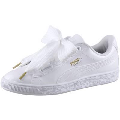 PUMA Basket Heart Patent Sneaker Damen Puma White-Puma White