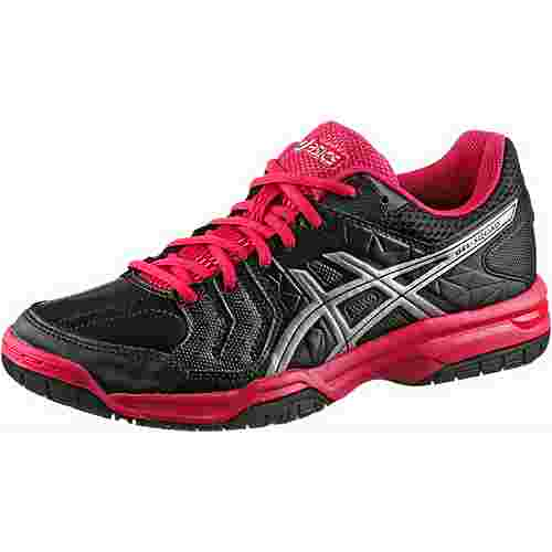 ASICS GEL-SQUAD Hallenschuhe Damen black-silver-rouge red