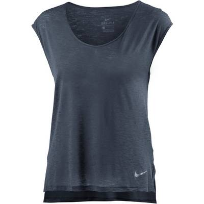 Nike Breathe Cool Laufshirt Damen THUNDER BLUE