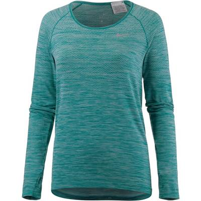 Nike Dry Fit Knit Laufshirt Damen IGLOO/TURBO GREEN