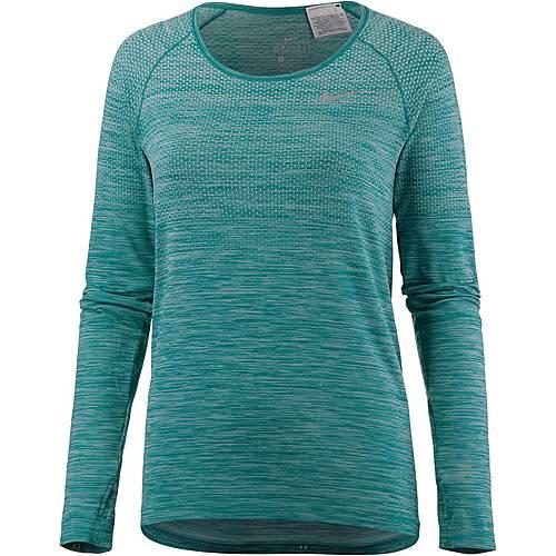 Nike Dry Fit Knit Laufshirt Damen IGLOO/TURBO GREEN