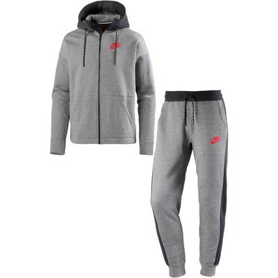 Nike NSW Trainingsanzug Herren CARBON HEATHER/ANTHRACITE/SIREN RED