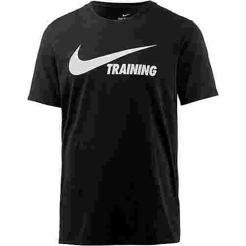 Nike Swoosh T-Shirt Herren BLACK/BLACK/WHITE