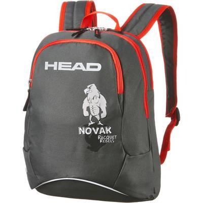 HEAD Kids Backpack Novak Tennisrucksack grau/rot