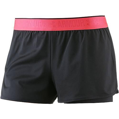 Under Armour Heatgear Armour Shorts Damen BLACK/BLACK/METALLIC SILVER