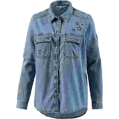 TOM TAILOR Langarmhemd Damen mid stone bright blue denim