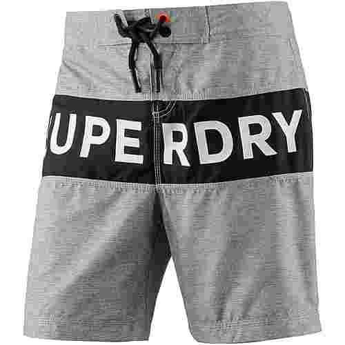 Superdry Surplus Goods Banner Badeshorts Herren silver grey grit