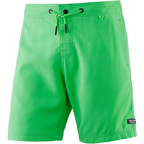 Superdry Surplus Goods Badeshorts Herren worn palm green