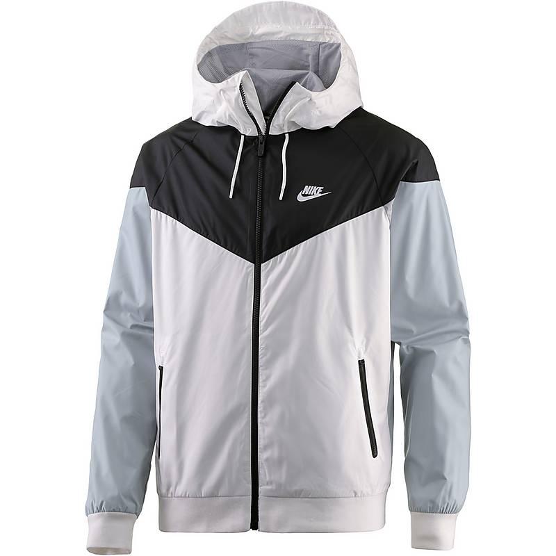 Nike Windrunner Kapuzenjacke Herren WHITE/BLACK/WOLF GREY/WHITE