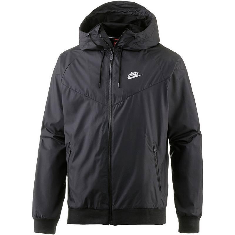 Nike Windrunner Kapuzenjacke Herren BLACK BLACK BLACK WHITE im ... ba0e381f65