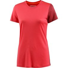 ORTOVOX 185 Rock'n'Wool Short Sleeve Funktionsshirt Damen hot coral
