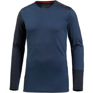ORTOVOX 185 Rock'n'Wool Long Sleeve Merino Funktionsshirt Herren night blue