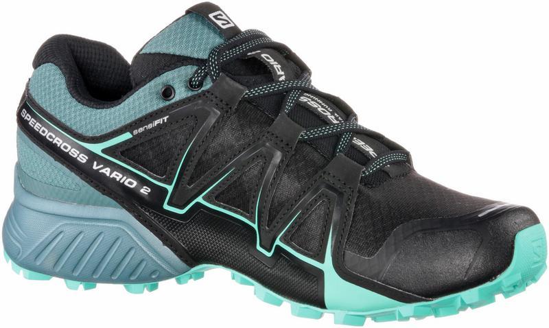 Salomon Damen Speedcross Vario 2 Trailrunning-Schuhe, Schwarz/Blau (Black/North Atlantic/Biscay Green), Gr. 39 1/3