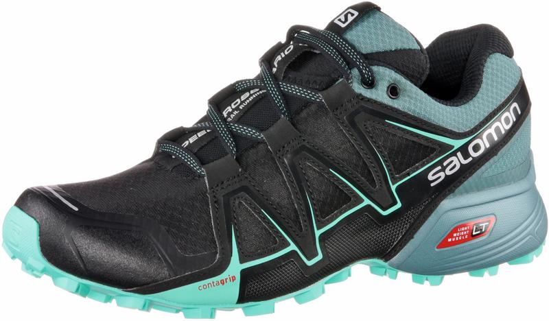 Salomon Damen Speedcross Vario 2 Trailrunning-Schuhe, Schwarz/Blau (Black/North Atlantic/Biscay Green), Gr. 42