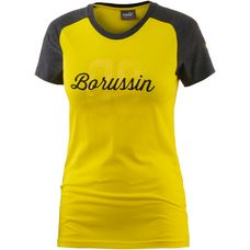 PUMA Borussia Dortmund T-Shirt Damen Cyber Yellow-Dark Gray Heather