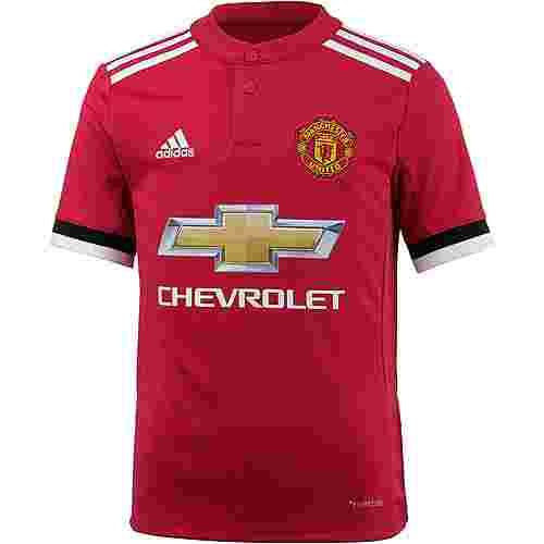 adidas Manchester United 17/18 Heim Fußballtrikot Kinder real red