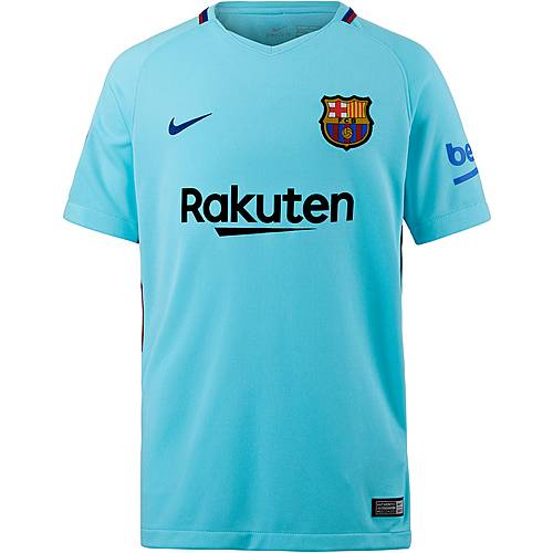 Nike FC Barcelona 17/18 Auswärts Fußballtrikot Kinder POLARIZED BLUE/(DEEP ROYAL BLUE)