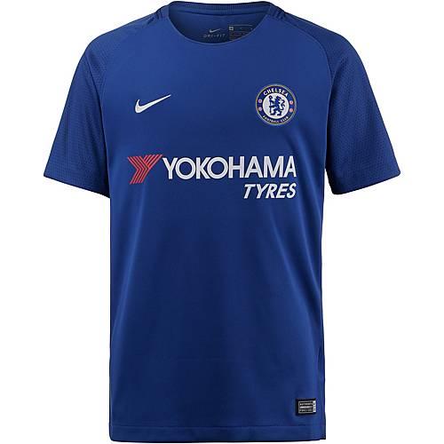 Nike FC Chelsea 17/18 Heim Fußballtrikot Kinder RUSH BLUE/(WHITE)