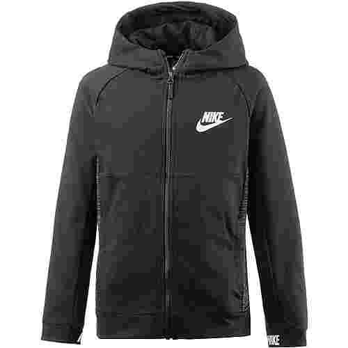 Nike Hoodie Kinder BLACK/BLACK/WHITE
