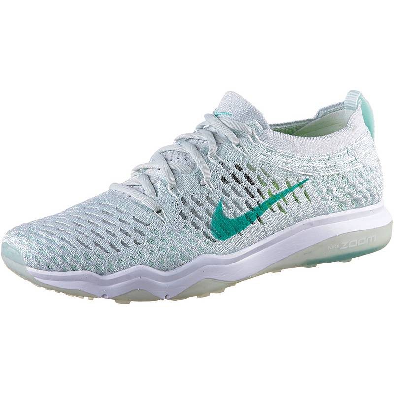 huge selection of 46c0b 574a1 NikeAir Zoom Fearless Flyknit FitnessschuheDamen WHITE AURORA GREEN