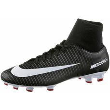 Nike MERCURIAL VICTORY VI DF FG Fußballschuhe Herren BLACK/WHITE-DK GREY-UNIV RED