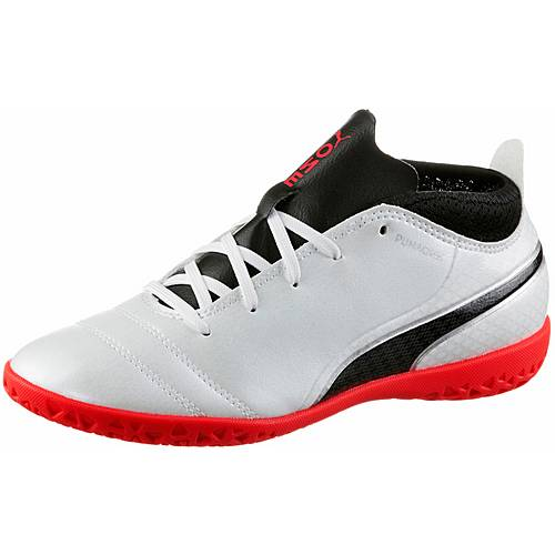 PUMA PUMA ONE 17.4 IT Jr Fußballschuhe Kinder Puma White-Puma Black-Fiery Coral