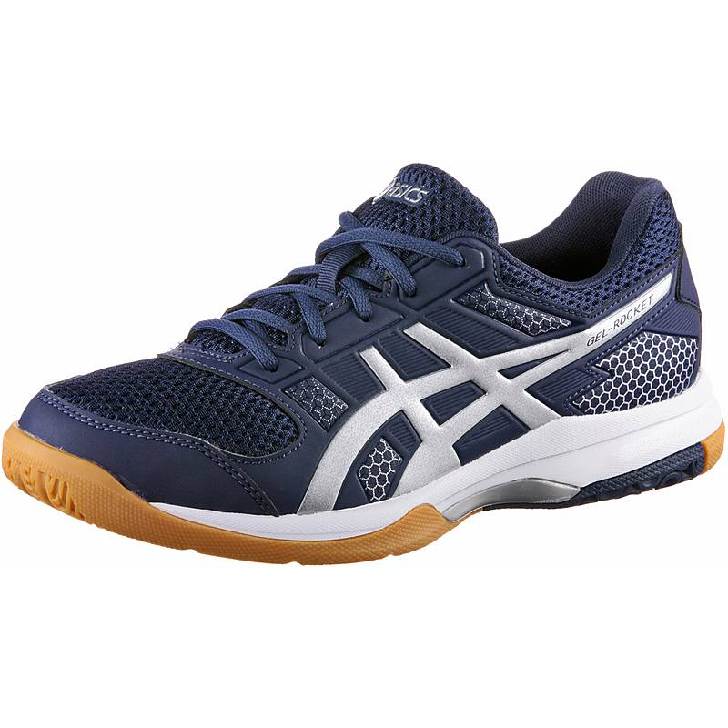 huge selection of 74237 19fbe ASICSGELROCKET 8 VolleyballschuheHerren indigo blue silver white