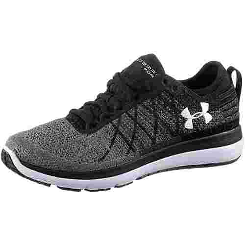 Under Armour Threadborne Fortis Laufschuhe Damen BLACK / STEALTH GRAY / WHITE