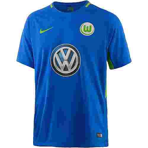 Nike VFL Wolfsburg 17/18 Auswärts Fußballtrikot Herren HYPER COBALT/(GREEN GUSTO)