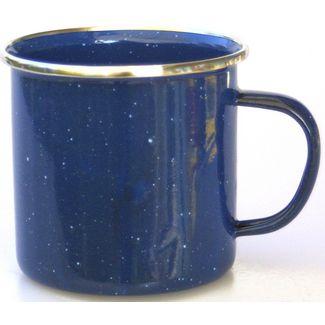 RELAGS Emaille Tasse Campinggeschirr blau