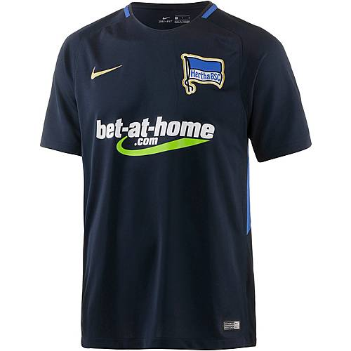 Nike Hertha BSC 17/18 Auswärts Fußballtrikot Herren DARK OBSIDIAN/GAME ROYAL/(METALLIC GOLD)