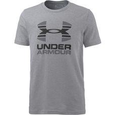 Under Armour Funktionsshirt Kinder STEEL LIGHT HEATHER/RHINO GRAY/BLACK