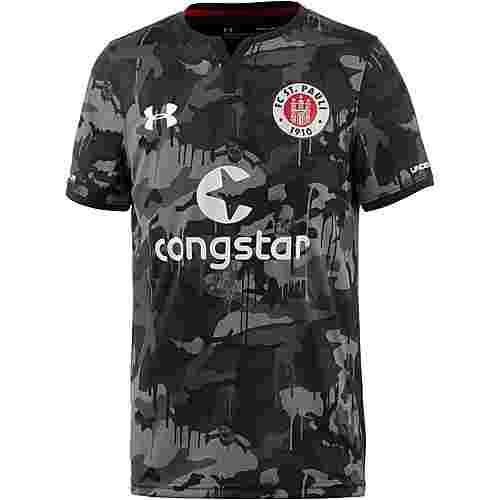 Under Armour FC St. Pauli 17/18 3rd Fußballtrikot Kinder grau