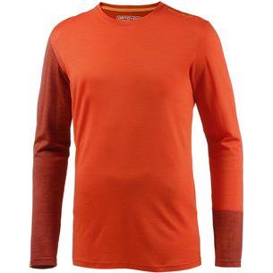 ORTOVOX 185 Rock'n'Wool Long Sleeve Merino Funktionsshirt Herren crazy orange
