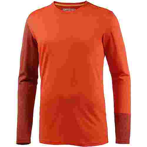 ORTOVOX 185 Rock'n'Wool Long Sleeve Merino Funktionsshirt Herren crazy orange