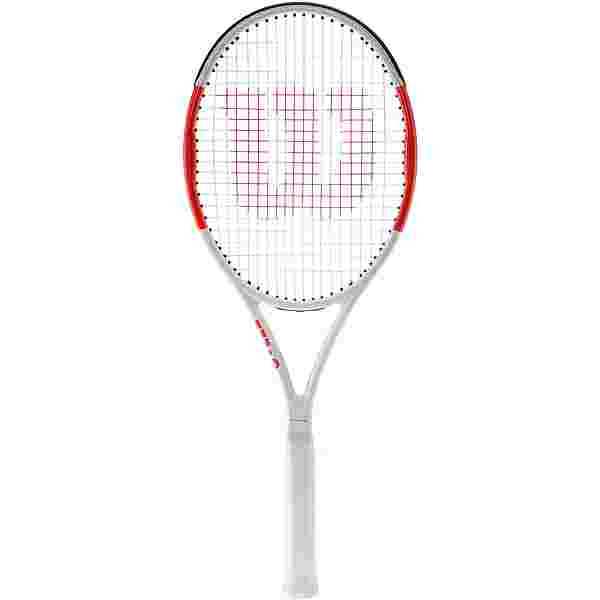 Wilson Six One 95 Team Tennisschläger white/red