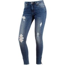 Only Skinny Fit Jeans Damen medium blue denim