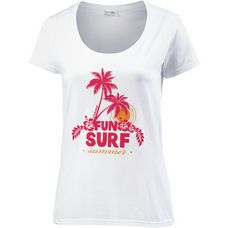 14 Ender Fun Surf Summer T-Shirt Damen white