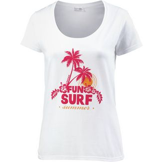 14 Ender Fun Surf Summer T-Shirt Damen white